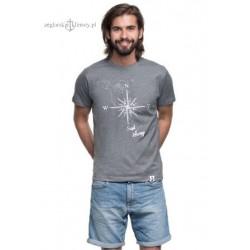 Koszulka męska premium plus (pieprz) SAIL AWAY