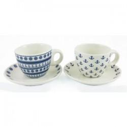 Mini filiżanki z talerzykiem do kawy - komplet 2 sztuki