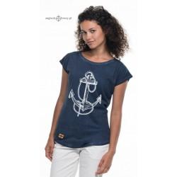 Koszulka damska vintage rys KOTWICA
