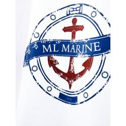 Koszulka męska premium biała ML Marine (vintage)