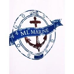 Koszulka damska premium biała ML MARINE (vintage)