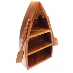 Półka drewniana w kształcie łodzi :-)