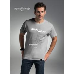 Koszulka męska premium szara NAVIGARE NECESSE EST