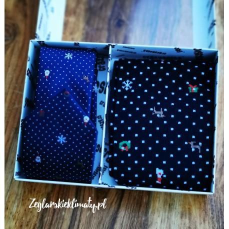 Ciepłe skarpety damskie frotte - świąteczne :-)
