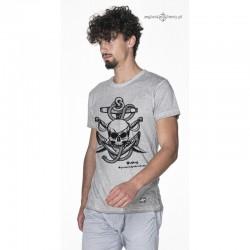 Koszulka męska vintage Kotwica czaszka