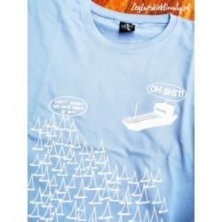 Koszulka premium+ OH SHIT w błękicie :-)