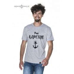 Koszulka męska szara Pan KAPITAN