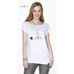 Koszulka damska biała Odpływamy :-)