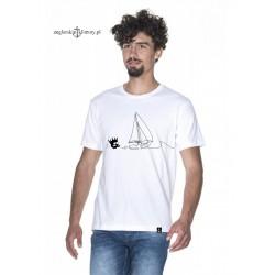 Koszulka męska premium biała Odpływamy :-)
