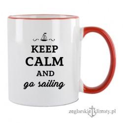 Kubek KEEP CALM and go sailing