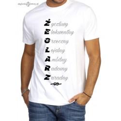 Koszulka męska biała premium ŻEGLARZ :-)