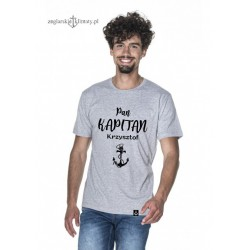 Koszulka męska szara Pan KAPITAN z imieniem :-)