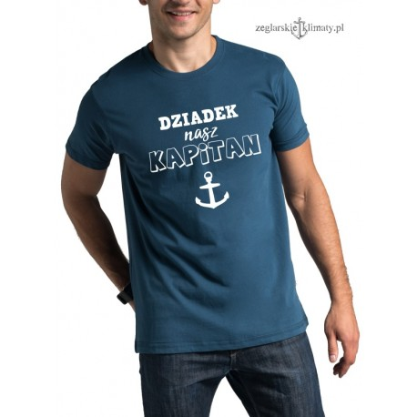 Koszulka męska premium plus Dziadek nasz KAPITAN :-)