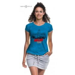 Koszulka damska sportowa SAILING TEAM (niebieska)