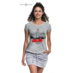 Koszulka damska sportowa SAILING TEAM (szara)