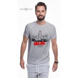 Koszulka sportowa męska SAILING TEAM (szara)