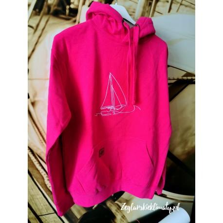 Bluza premium hot pink - haft BOAT