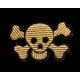 Aplikacja (termo naszywka) - haft złota CZASZKA