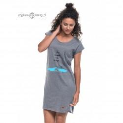 Sukienka jasna szary melanż - Cho na żagle :-)