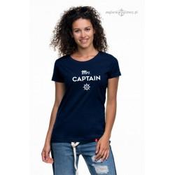 Koszulka damska premium strech Mrs. CAPTAIN :-)
