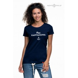 Koszulka damska premium strech Pani Kapitanowa :-)