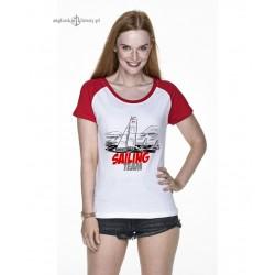 Koszulka damska SAILING TEAM (biało-czerwona :-)