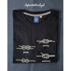 Koszulka męska granatowa premium - WĘZŁY 3D :-)