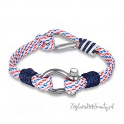 Bransoletka SZEKLA + kausza na kolorowych linkach