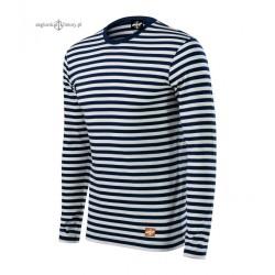 Koszulka unisex w marynarskie paski - długi rękaw