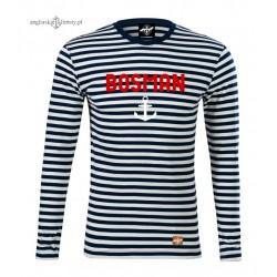 Koszulka BOSMAN w marynarskie paski - długi rękaw
