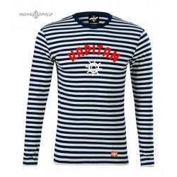 Koszulka KAPITAN w marynarskie paski - długi rękaw