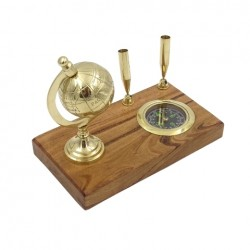 Zestaw Podróżnik na biurko - kompas i globus :-)