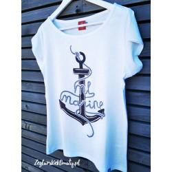 Koszulka damska biała kotwica ML MARINE