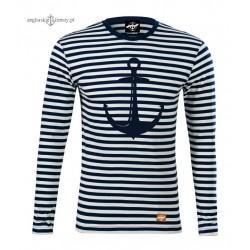 Koszulka w marynarskie paski KOTWICA (długi rękaw)
