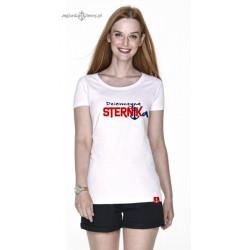 Koszulka damska biała premium Dziewczyna STERNIKa :-)