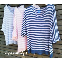 Letni sweterek w paski w 3 kolorach :-)
