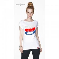 Koszulka damska biała 3 kolory - JACHT
