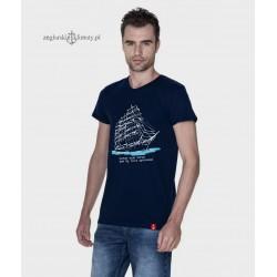 Koszulka męska granatowa Morze, moje morze (organic cotton)