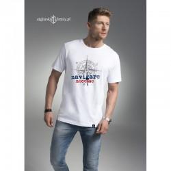Koszulka męska premium strech biała NAVIGARE