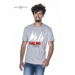 Koszulka męska szara SAILING TEAM
