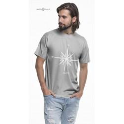 Koszulka męska premium szara SAILING