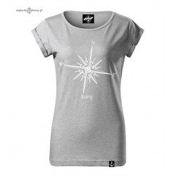 Luźna bluzka damska szaro-srebrna - SAILING