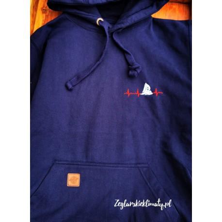 Bluza premium granatowa - haft EKG :-)