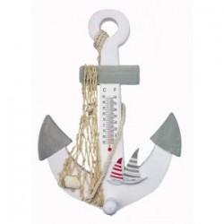KOTWICA z żaglówkami - termometr i wieszak wys. 28cm