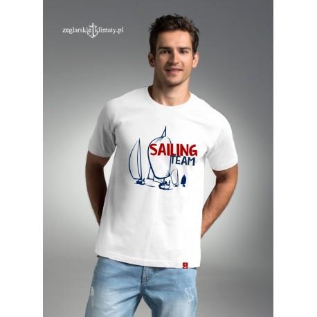 Koszulka męska biała premium - SAILING TEAM