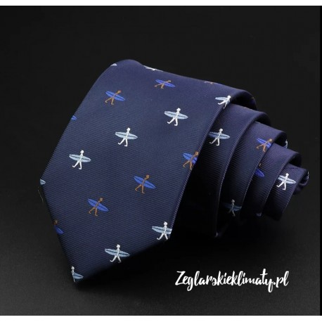 Krawat granatowy SURF :-)