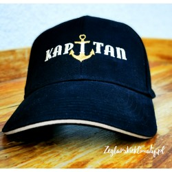 Czapka z daszkiem czarna - haft KAPITAN :-)