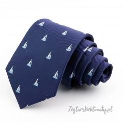Krawat granatowy ŻAGLÓWKI :-)