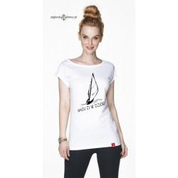 Koszulka damska biała AHOJ CI W DZIÓB!