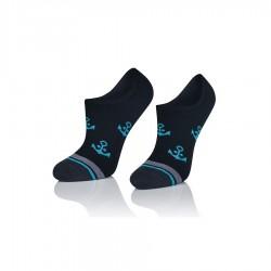 Mikro stopki damskie czarne w kotwiczki :-)